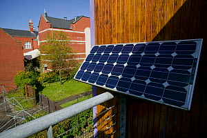 Photovoltaic cells to convert sunlight into electricity, Swansea Environmental Centre, Wales, UK 2009 - David Woodfall