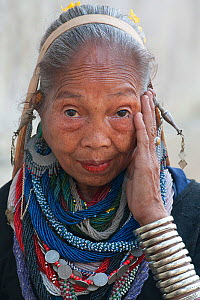 Woman of Riang tribe. Tripura, India, March 2012.No release available.  -  Bernard Castelein