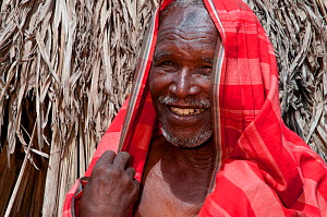 Tribal elder and chief of his village, Orma village, pastoralist tribe living in Tana River delta, Kenya, East Africa 2010. No release available.  -  Cheryl-Samantha Owen
