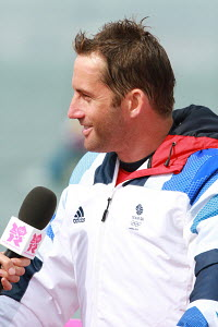 Finn sailor Ben Ainslie (GBR) during the London 2012 Olympic Games, in Weymouth, Dorset, England, July 2012. For editorial use only. - Ingrid Abery