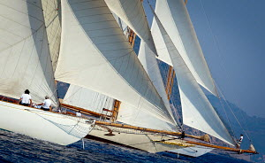 'Moonbeam III' and 'Sunshine' during Vele D'Epoca di Imperia as part of the Panerai Classic Yacht Challenge, Menorca, Spain, September, 2012. All non-editorial uses must be cleared individually. - Sea & See