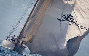 'Moonbeam III' during Vele D'Epoca di Imperia as part of the Panerai Classic Yacht Challenge, Menorca, Spain, September, 2012. All non-editorial uses must be cleared individually. - Sea & See