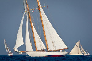 'Eilean' with 'Moonbeam III' in the background during Vele D'Epoca di Imperia as part of the Panerai Classic Yacht Challenge, Menorca, Spain, September, 2012. All non-editorial uses must be cleared in... - Sea & See