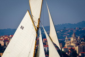 'Moonbeam III' during the Vele D'Epoca di Imperia as part of the Panerai Classic Yacht Challenge, Italy, September 2012. For editorial use only. - Sea & See