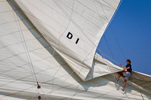 'Mariska' during the Vele D'Epoca di Imperia as part of the Panerai Classic Yacht Challenge, Italy, September 2012. For editorial use only. - Sea & See
