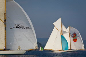 'Emilia' and 'Elena' during the Vele D'Epoca di Imperia as part of the Panerai Classic Yacht Challenge, Italy, September 2012. For editorial use only. - Sea & See