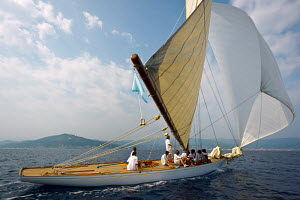 'Bona Fide' during the Vele D'Epoca di Imperia as part of the Panerai Classic Yacht Challenge, Italy, September 2012. For editorial use only. - Sea & See