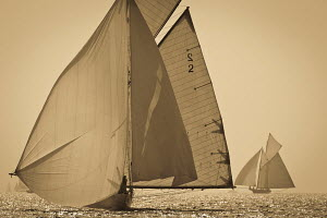 'Kelpie' during the Vele D'Epoca di Imperia as part of the Panerai Classic Yacht Challenge, Italy, September 2012. For editorial use only. - Sea & See