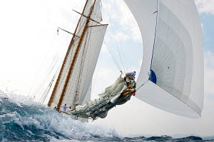 'Elena' during the Vele D'Epoca di Imperia as part of the Panerai Classic Yacht Challenge, Italy, September 2012. For editorial use only. - Sea & See