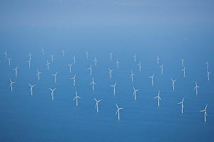 Aerial view of Mark, an offshore windpark, Ostsee, Denmark, July 2012  -  Kerstin Hinze