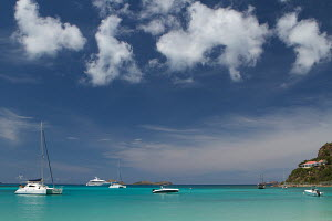 View across anchorage and beach at St Jean, St Bathelemy, Caribbean, April 2012. - Ingrid Abery