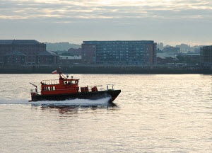 Liverpool pilot boat 'Dunlin' returning to Liverpool on the River Mersey, England, August 2012. - Norma Brazendale