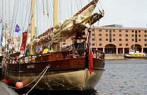 Tall ship 'Maybe' moored in Albert Dock, Liverpool, Merseyside, England, August 2012. - Norma Brazendale
