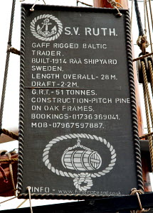 Tall ship 'Ruth' tied up in Albert Dock, Liverpool, Merseyside, England, August 2012.  -  Norma Brazendale