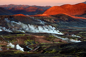 View over the hot spring area west of Hrafntinnusker. Fjallabak Nature Reserve, Iceland. - Orsolya Haarberg