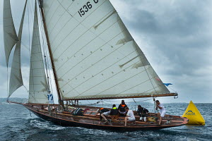 Gaff cutter 'Pen Duick' during the Cannes Royal Regatta as part of the Panerai Classic Yacht Challenge, Italy, September 2012. For editorial use only. - Sea & See