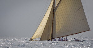 'Bona Fide' during the Cannes Royal Regatta as part of the Panerai Classic Yacht Challenge, Italy, September 2012. For editorial use only. - Sea & See