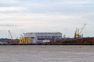 Cammell Laird Shipyard on the banks of the River Mersey, Birkenhead, England, July 2012. - Graham Brazendale