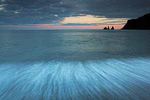Reynisdrangar sea stacks at dusk, Vik, Iceland - Peter Cairns