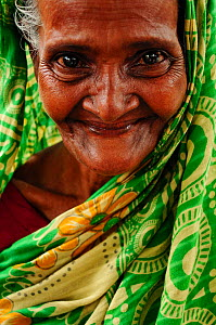 Elderly woman in the Sundarbans National Park,  Bangladesh, UNESCO World Heritage Site. June 2012. No release available. - Enrique Lopez-Tapia
