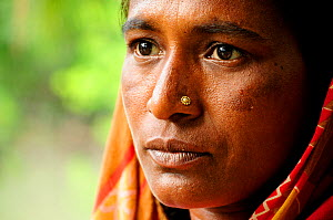 Portrait of a woman from the small village of Gagramari. Sundarbans National Park, Bangladesh. UNESCO World Heritage Site. June 2012. No release available. - Enrique Lopez-Tapia