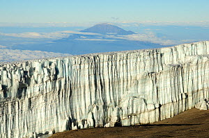 Looking down on the last glaciers near the summit of Mount Kilimanjaro, Tanzania, October 2008 - Enrique Lopez-Tapia