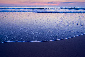 Twilight over Bedruthan Beach on the north coast of Corrnwall, England, October 2007.  -  UNCATALOGUED