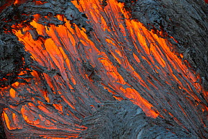 Red hot lava from the Plosky Tolbachik Volcano eruption, Kamchatka Peninsula, Russia, 5 December 2012 - Sergey Gorshkov