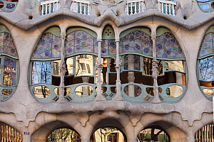 Casa Batllo, a building by architect Antoni Gaudi, Sant Eixample District, Barcelona City, Spain, March 2011  -  Juan Manuel Borrero