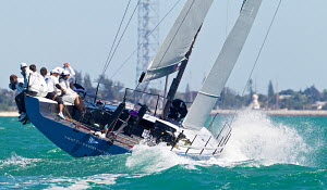 Winning TP52 'Azzurra' on the last day of racing at Key West Race Week, Florida, USA, January 2013. All non-editorial uses must be cleared individually. - Jesus Renedo