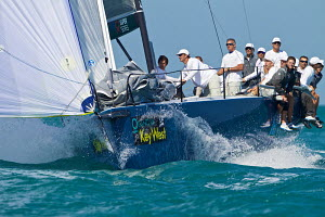 Action on board winning TP52 'Azzurra' at Key West Race Week, Florida, USA, January 2013. All non-editorial uses must be cleared individually. - Jesus Renedo