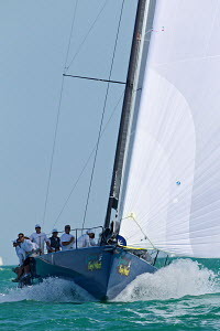 Winning TP52 'Azzurra' at Key West Race Week, Florida, USA, January 2013. All non-editorial uses must be cleared individually. - Jesus Renedo