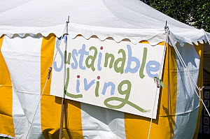 Sustainable Living tent, Camden now London Green Fair, Regents Park, London UK June 2012  -  Pat  Tuson