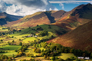 Newlands Valley and Causey Pike, Lake District National Park, Cumbria, England, UK. October 2012.  -  Ross Hoddinott