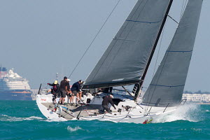 Yacht heeling during a race at Key West Race Week, Florida, USA, January 2013. All non-editorial uses must be cleared individually. - Ingrid Abery