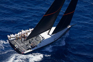 Aerial view of 'Bella Mente' during the Copa del Rey Mapfre, Palma, Majorca, Spain, July 2012. All non-editorial uses must be cleared individually. - Jesus Renedo