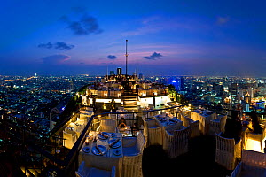 The view over the Bangkok City skyline from Vertigo, a bar and restaurant on top of the Banyan Tree Hotel, Bangkok, Thailand, 2010 - Gavin Hellier
