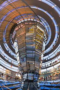 Interior of Reichstag Parliament building, Berlin, Germany, 2010  -  Gavin Hellier