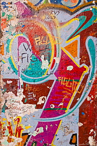 Painted section of the Berlin Wall left standing in Potsdamer Platz, Berlin. As was the case in much of Berlin, many of the buildings around Potsdamer Platz were turned to rubble by air raids and heav...  -  Gavin Hellier
