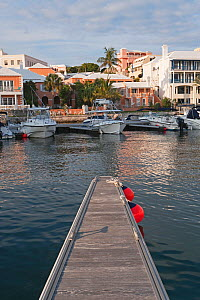Hamilton Harbour and new luxury office buildings along the waterfront, Hamilton, Bermuda 2007  -  Gavin Hellier