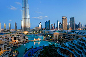The Burj Khalifa with luxury development below, completed in 2010, the tallest man made structure in the world, Dubai, United Arab Emirates 2011 - Gavin Hellier
