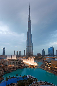 The Burj Khalifa, completed in 2010, the tallest man made structure in the world, Dubai, United Arab Emirates 2011 - Gavin Hellier