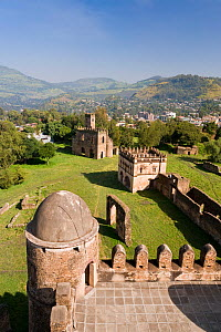 View over Gonder and the Royal Enclosure from the top of Fasiladas' Palace, Gonder, Northern Ethiopia 2005 - Gavin Hellier