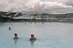 The Blue Lagoon, Iceland's most famous tourist attraction is located among the black lava flows outside Reykjavik. The geothermal spa owes its existence to the Svartsengi geothermal power plant powere...  -  Gavin Hellier