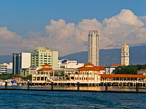 City skyline and Victoria Memorial Clock Tower, Georgetown, Penang (Pulua Pinang) Malaysia 2008  -  Gavin Hellier
