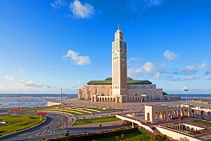 Hassan II Mosque, the third largest mosque in the world, Casablanca, Morocco, 2011  -  Gavin Hellier