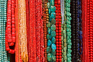 Colourful beads hanging for sale, Mutrah Souq, Muscat, Oman 2007  -  Gavin Hellier