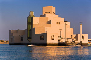 Museum of Islamic Art, designed by the renowned architect IM Pei, this museum has the largest collection of Islamic art in the world. Doha, Qatar, Arabian Peninsula 2007  -  Gavin Hellier