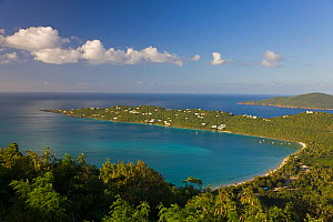 Elevated view over Magens Bay, the most famous beach on St. Thomas, US Virgin Islands, Leeward Islands, Lesser Antilles, Caribbean, West Indies 2008  -  Gavin Hellier
