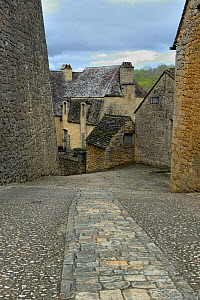 Streets and houses of Beynac, Dordogne, France, April 2012  -  Loic Poidevin